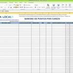 Hoja de Excel para el cálculo de puntos por cursos. Policícas Locales de Galicia